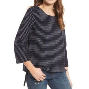 [Madewell] Striped Side-Lace Top